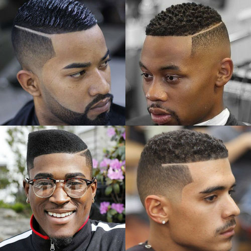 Hairstyles-For-Black-Men-Part-With-Fade
